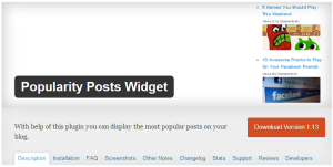 Popularity-Post-Widgets